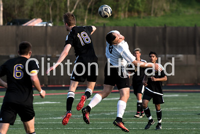 Clinton vs Muscatine boys soccer 5-10-18
