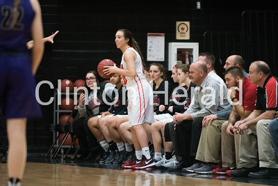 Clinton vs Muscatine Girls Basketball 1-24-17