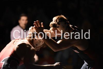 Clinton wrestling 1-31-18