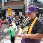 Bonkers T. Clown worked the kids zone.