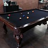 Clippers & Co. barber shop in Leominster has a pool table for customers to use while waiting to get their hair cut. SENTINEL & ENTERPRISE/JOHN LOVE