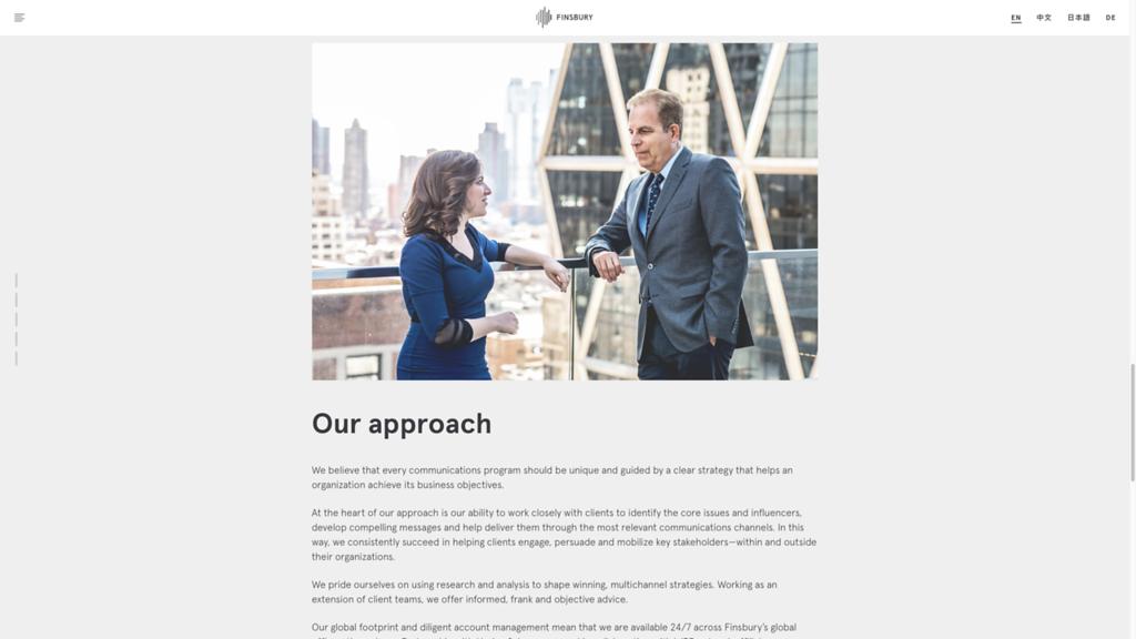 Finsbury-approach-website