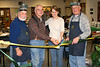 L to R George Evans (Instructor), Lloyd Lehn (President of Potomac Guild), Karen Bixler (Coordiator, City of Fairfax Senior Center), and John Enloe (Instructor). Cutting Ribbon for first class.