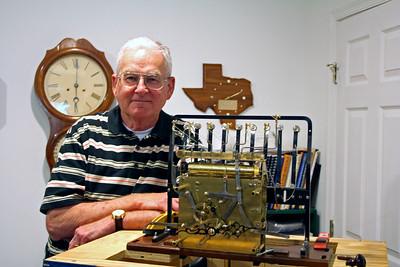 Work competed.  John Enloe, the other clockmaker.
