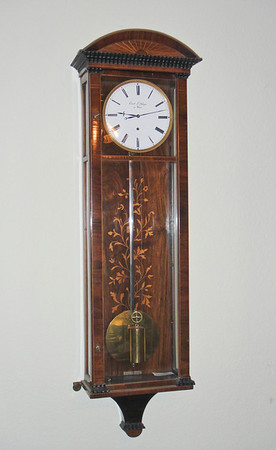 I have included two shots of this clock, one with a lot of light, one with less - in an effort to give you a good idea of how the clock looks.