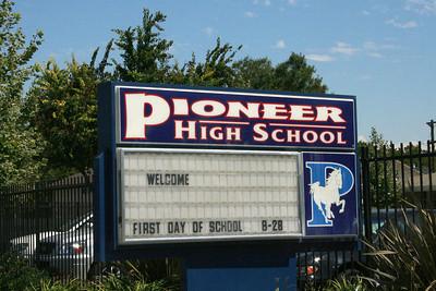 5955 Pioneer HS sign