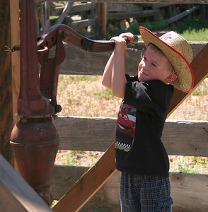 4596 Little Cowboy pumping water