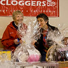 Willah & Stathie checking out the raffle prizes