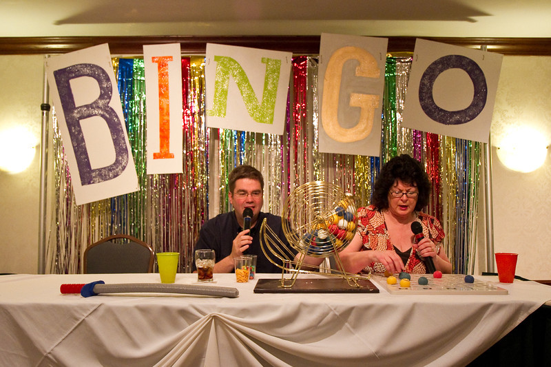 Jeff Driggs and Naomi Pyle called the bingo games and kept us entertained.