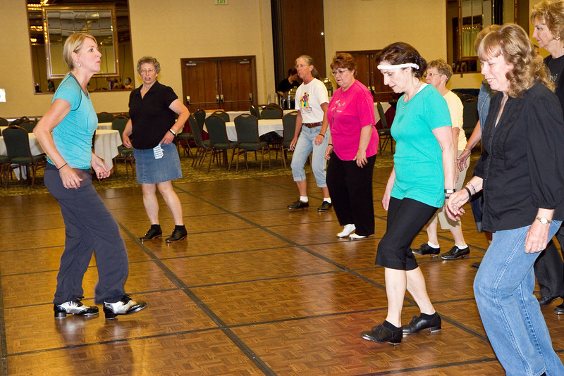 Excellent tap class for cloggers taught by Sue Sampson.