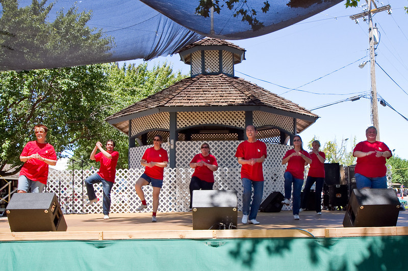 Clogging Express performing at the fair