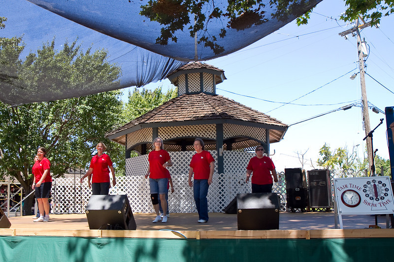 Diablo Mountain Cloggers performing at the fair