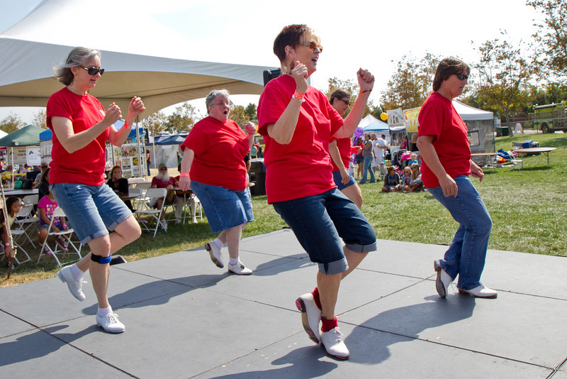 Diablo Mountain Cloggers at the Oakley Almond Festival.