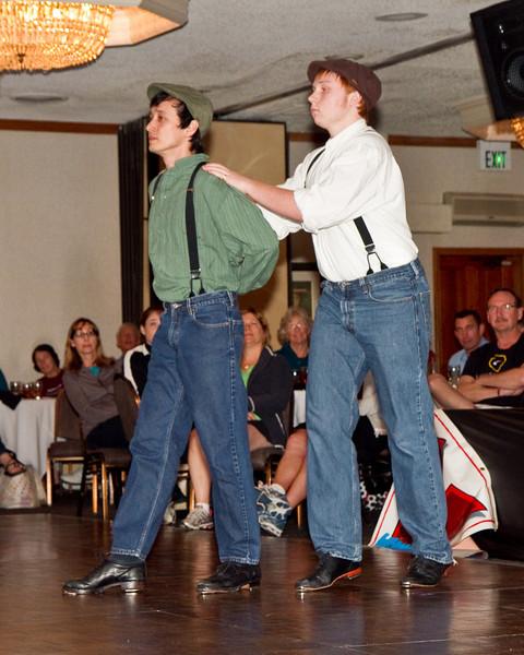 Ian and Kiernan dancing to No Americano