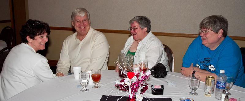 Deann, Cindy, and Deann's sister and her husband