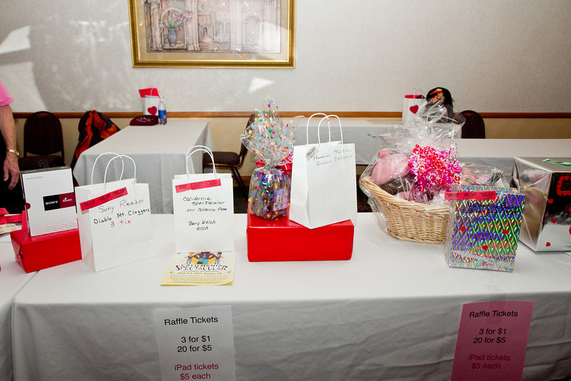 Raffle prizes at NCCA Convention