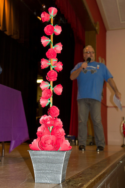 Flower decorations by Cindy at Blossom Hill Festival, Aug. 2012.