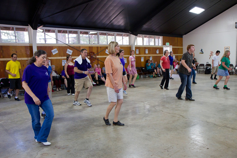 Dancers at the workshop at Grass Valley.