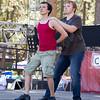 "Ian and Kiernan dancing to ""We Speak No Americano."""
