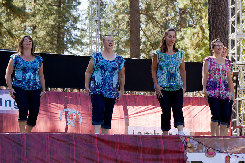 Thunderfoot Cloggers performing at Grass Valley.