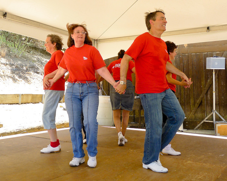 Diablo Mountain Cloggers performing at Old Borges Ranch for Heritage Day.