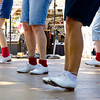 "Diablo Mountain Cloggers dancing to ""Just Dance"" at the Alameda County Fair. I love the variety of feet positions in this shot!"