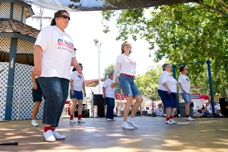 "Diablo Mountain Cloggers dancing ""What's the Rumpus?"" at the Alameda County Fair."