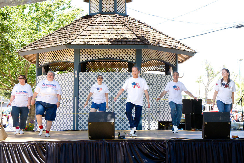 """Clogging Express dancing to """"Swing Kids"""" at the Alameda County Fair."""