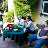 Barbecue at Geoff's house in San Mateo after dancing at the fair in Pleasanton.