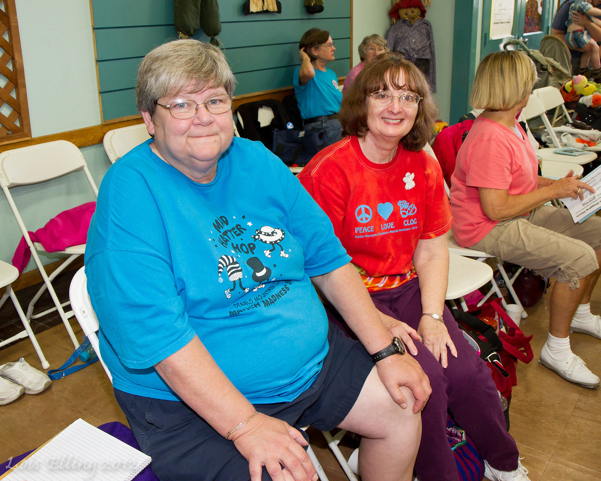 Cindy and Carolyn at Late Harvest Stomp, 2012.