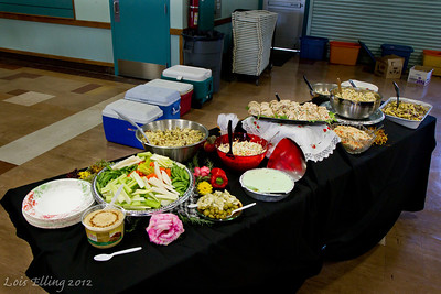 The dinner buffet at Late Harvest Stomp, 2012.