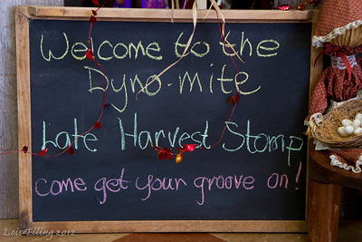 Welcome sign at Late Harvest Stomp, 2012.