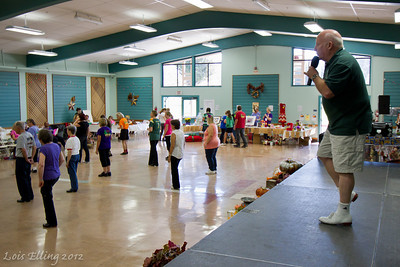 Mike McDow teaching at Late Harvest Stomp, 2012.