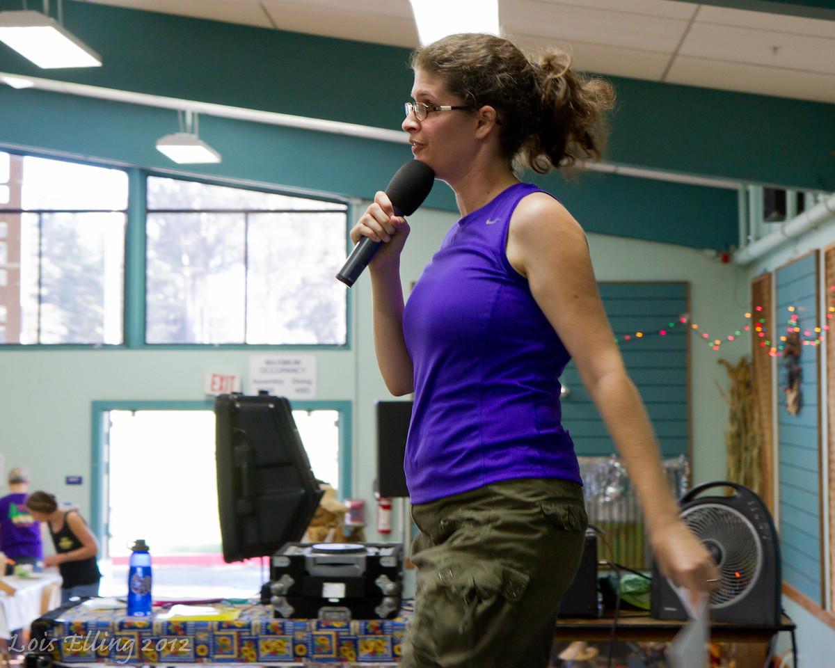 Sarah Dwight-Gilroy teaching at Late Harvest Stomp, 2012.