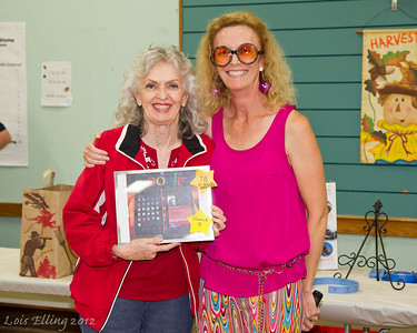 Sherri and Michele at Late Harvest Stomp, 2012. Sherri won the Google Nexus 7!