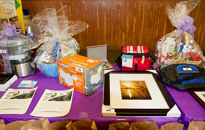 Raffle prizes at March Madness 2012.