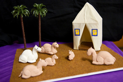 Camel miniatures by Cindy at March Madness 2012.