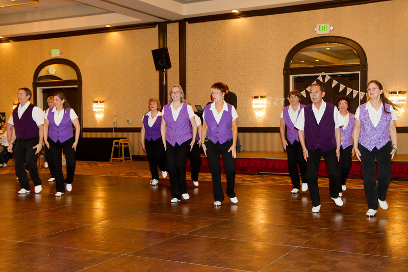 """Clogging Express dancing """"Dance Above the Rainbow"""""""