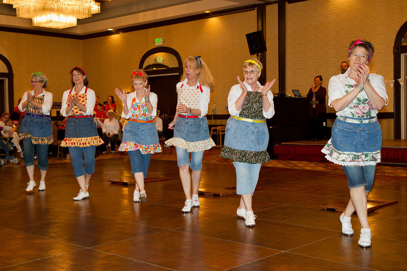 Feather River Cloggers performing at NCCA Convention.