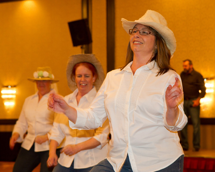 Thunderfoot Cloggers performing at NCCA Convention.