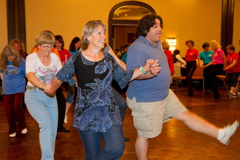 Dancing to Cotton-Eyed Joe at NCCA Convention.