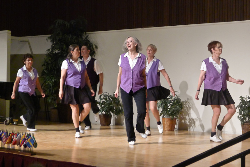 "Clogging Express dancing ""Just Dance"" at Rossmoor."