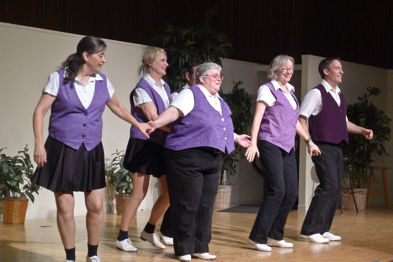 "Clogging Express dancing ""Cripple Creek"" at Rossmoor."