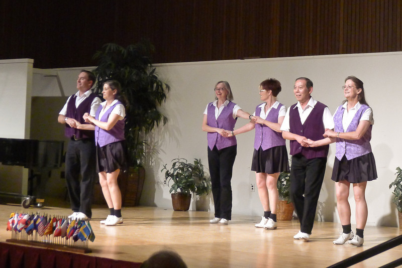 "Clogging Express dancing ""Dance Above the Rainbow"" at Rossmoor."