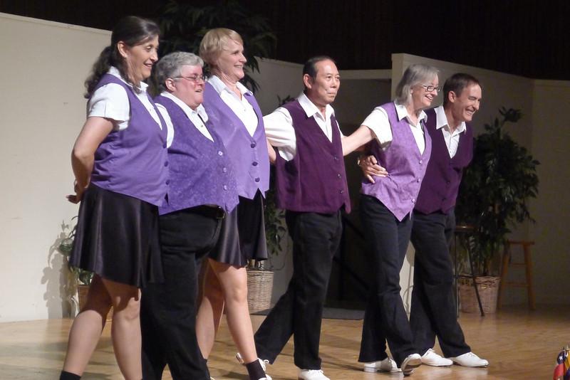 "Clogging Express dancing ""Cripple Creek"" at Rossmoor."