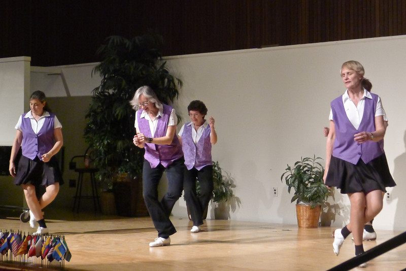 "Clogging Express dancing ""Don't Stop Movin' "" at Rossmoor."