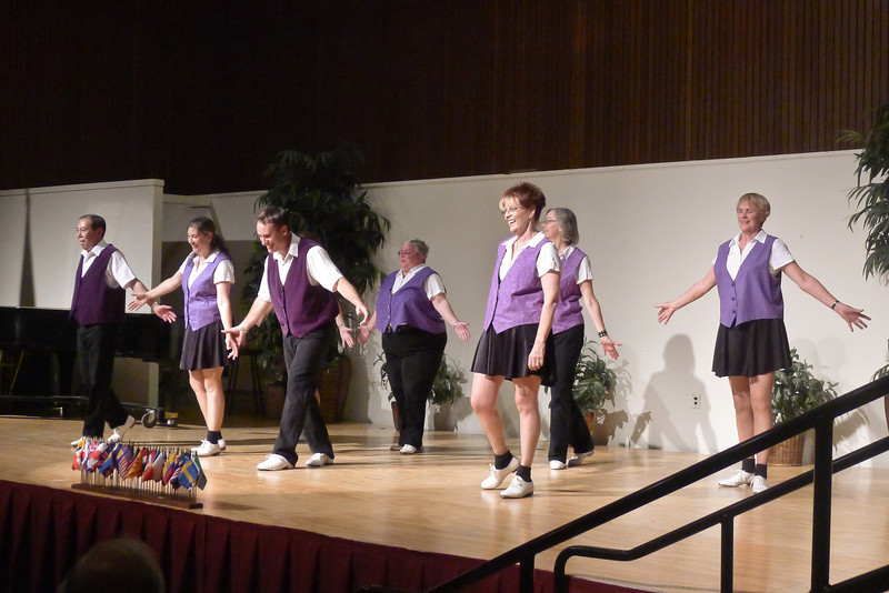 "Clogging Express dancing ""If Wishes Were Horses"" at Rossmoor."