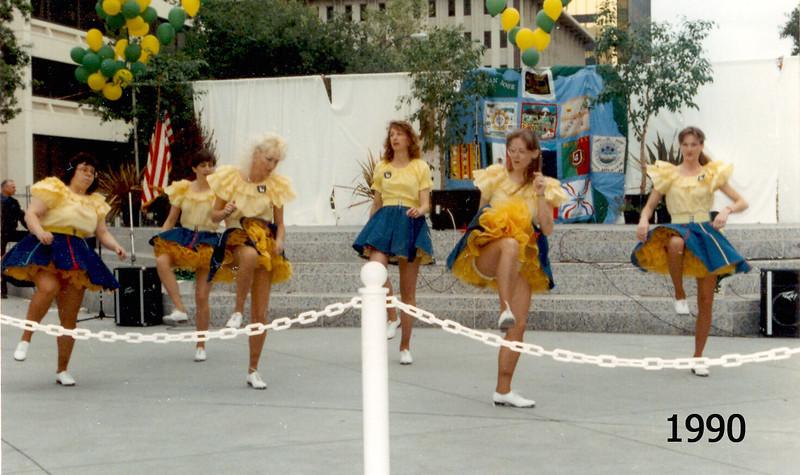BHC dancing at Earth Day celebration, San Jose, 1990
