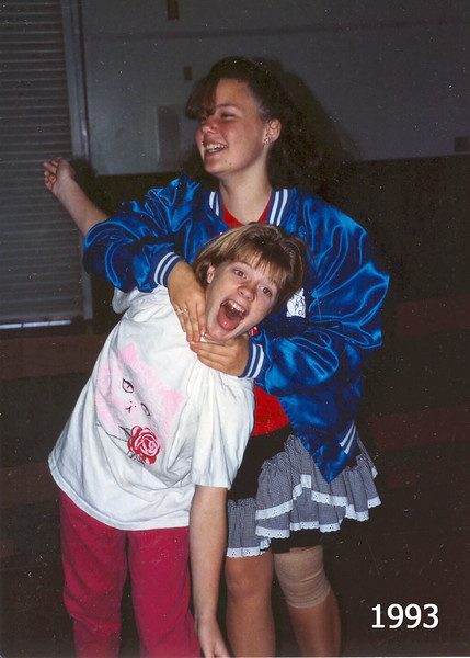 Missy and Jennifer playing around