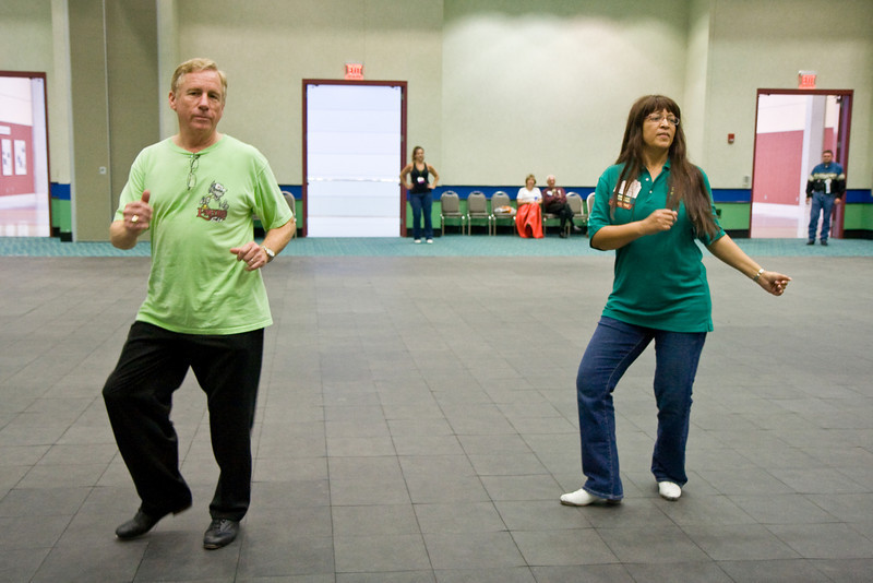 """Clogging to """"All Shook Up"""" at the National Square Dance Convention in Louisville, Kentucky"""